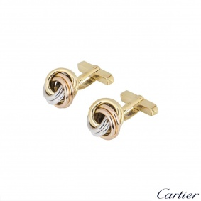 Cartier Tri-Colour Trinity Cufflinks